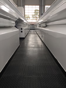 vue intérieure de la Fosse de garage en acier